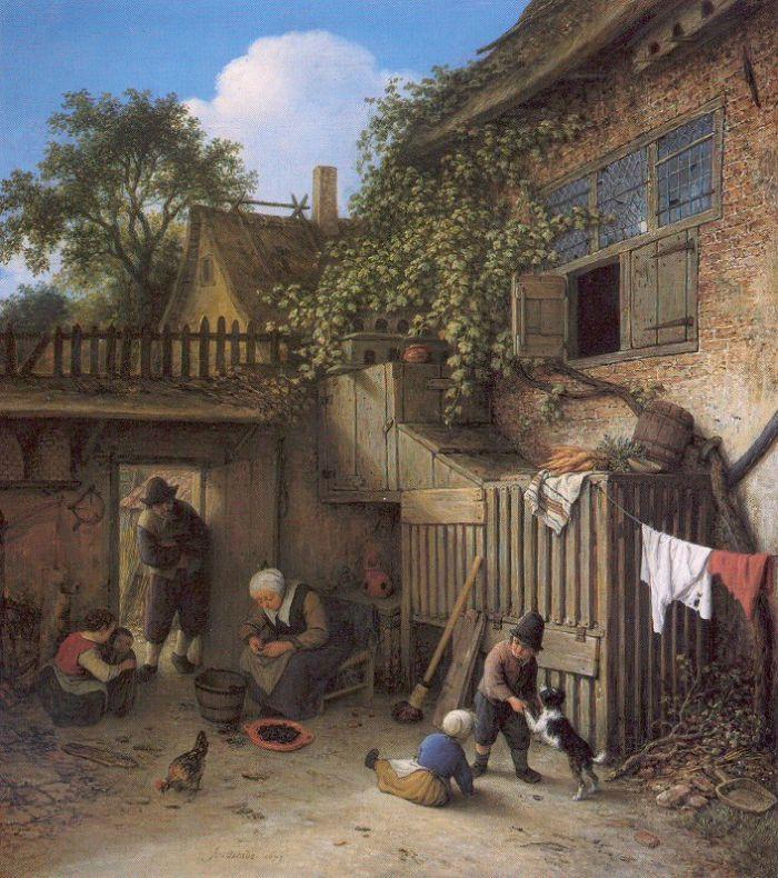 The Cottage Dooryard by Adriaen van Ostade