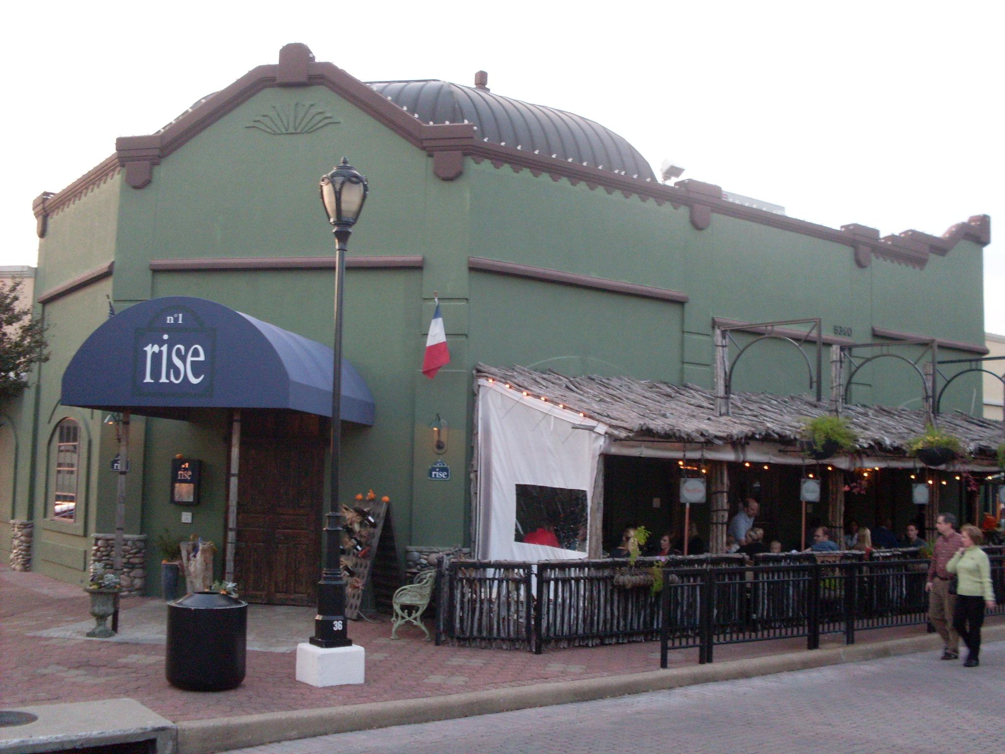 Rise restaurant in Inwood Village, Dallas, TX