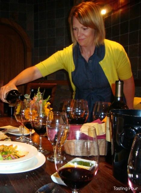 Jessica Munnell Winemaker Mercer Estates Winery Pours Wine