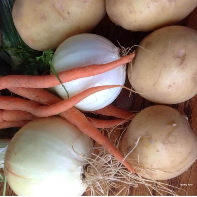 Mercer Estates Winery Swag Bag of Organic Root Vegetables