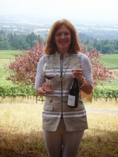 Page Knudsen Cowles with new Knudsen Vineyards Pinot Noir 2012