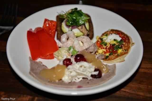 appetizer plate from Kachka in Portland