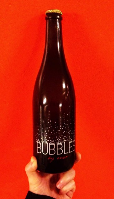 Bottle of Bubbles by ENSO methode ancestral sparkling Pinot Gris Oregon sparkling wine