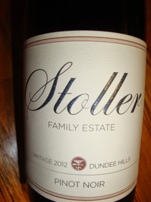 Bottle shot of Stoller Family Estate 2012 Pinot Noir from Dundee Hills Oregon