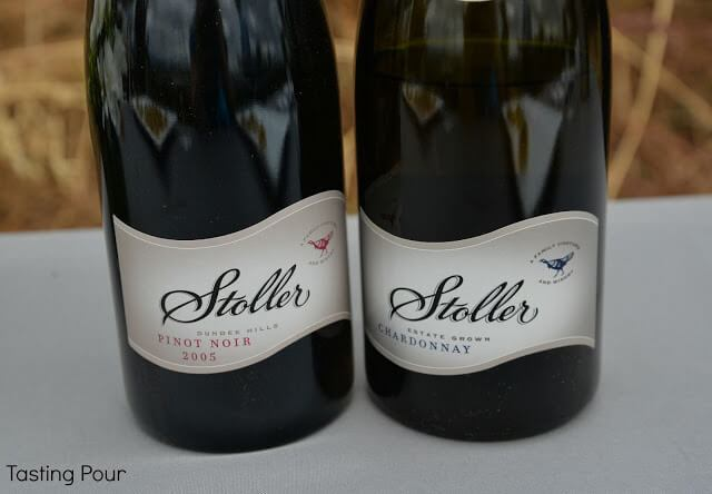 2001 Chardonnay and 2005 Pinot Noir from Stoller Family Estate