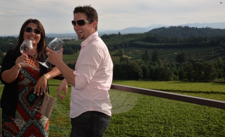 Willamette Valley Vineyards Tasting Deck