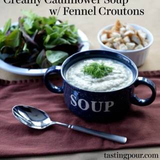 Cauliflower Soup with Fennel Croutons