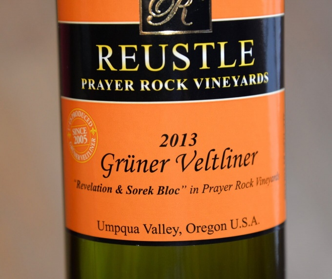 Reustle Prayer Rock Vineyards 2013 Gruner Veltliner
