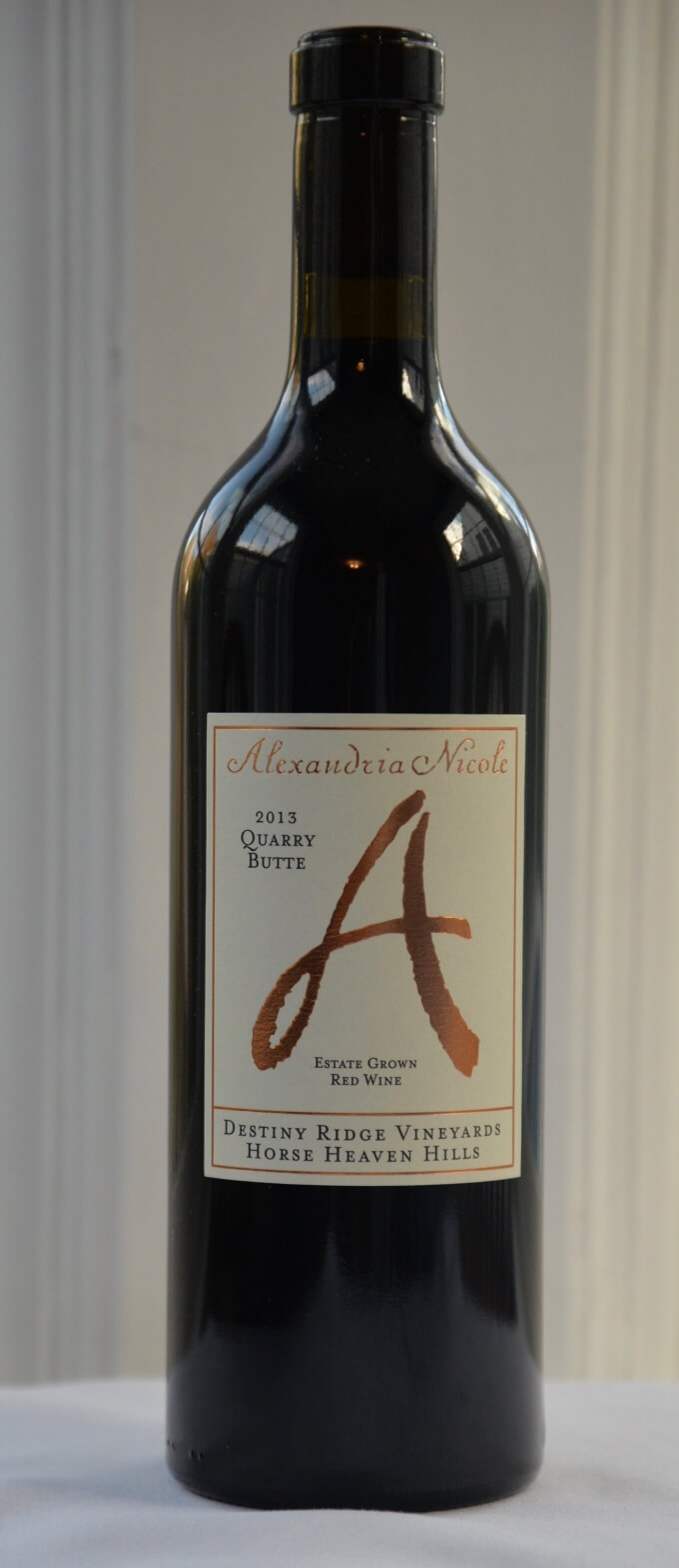2013 Alexandria Nicole Quarry Butte Destiny Ridge Vineyards Horse Heaven Hills Red Wine