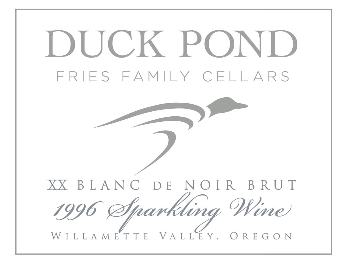 Duck Pond Cellars Sparkling Wine Label