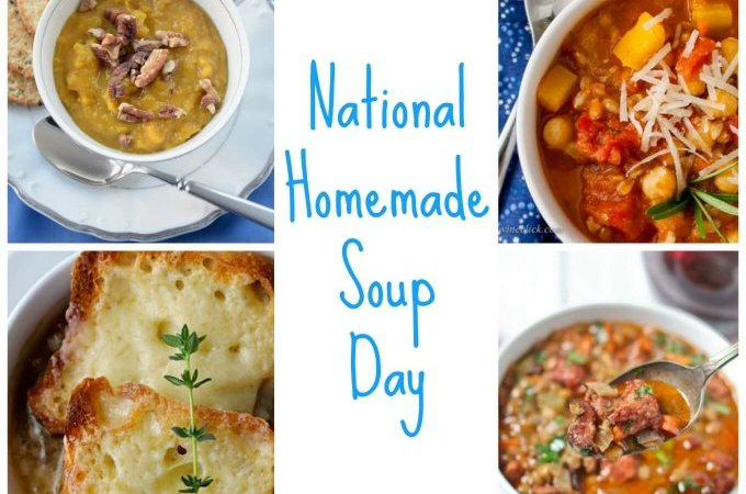 National Homemade Soup Day Collage