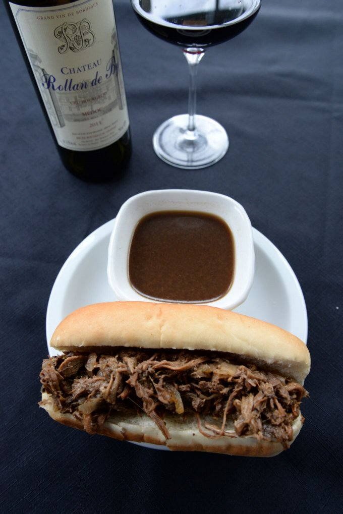 French Dip Sandwiches and Cru Bourgeois Wine