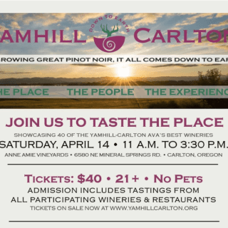 Giveaway: 2 Tickets Yamhill-Carlton Spring Tasting