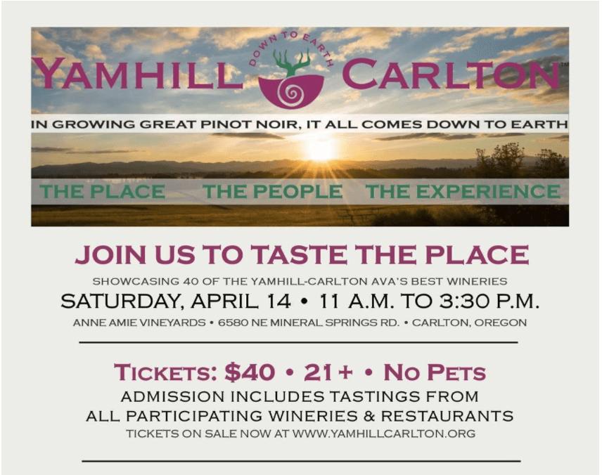 Yamhill-Carlton Spring Tasting Invite