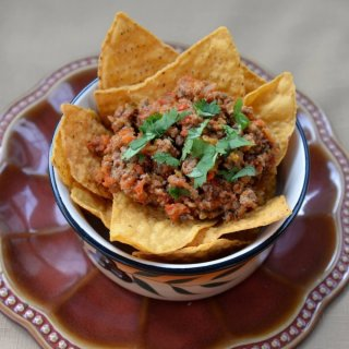 Lamb Sofrito Nachos Night of Navarra Wines #winepw