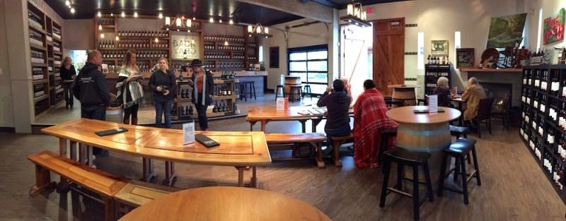 Backyard Vineyards tasting room