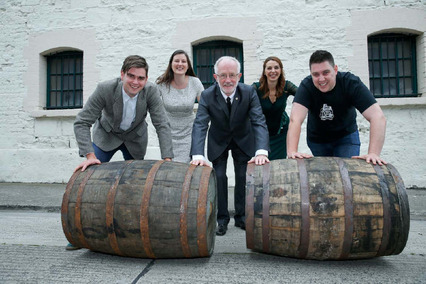 Michael Reddy on left and his Teeling Whiskey Barrel RacingTeam