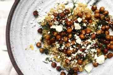 Crispy Chickpeas with Couscous & Feta