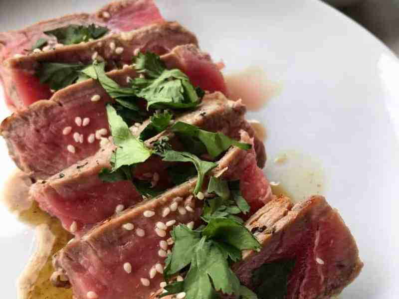 Healthy Seared Sesame Ahi Tuna Recipe