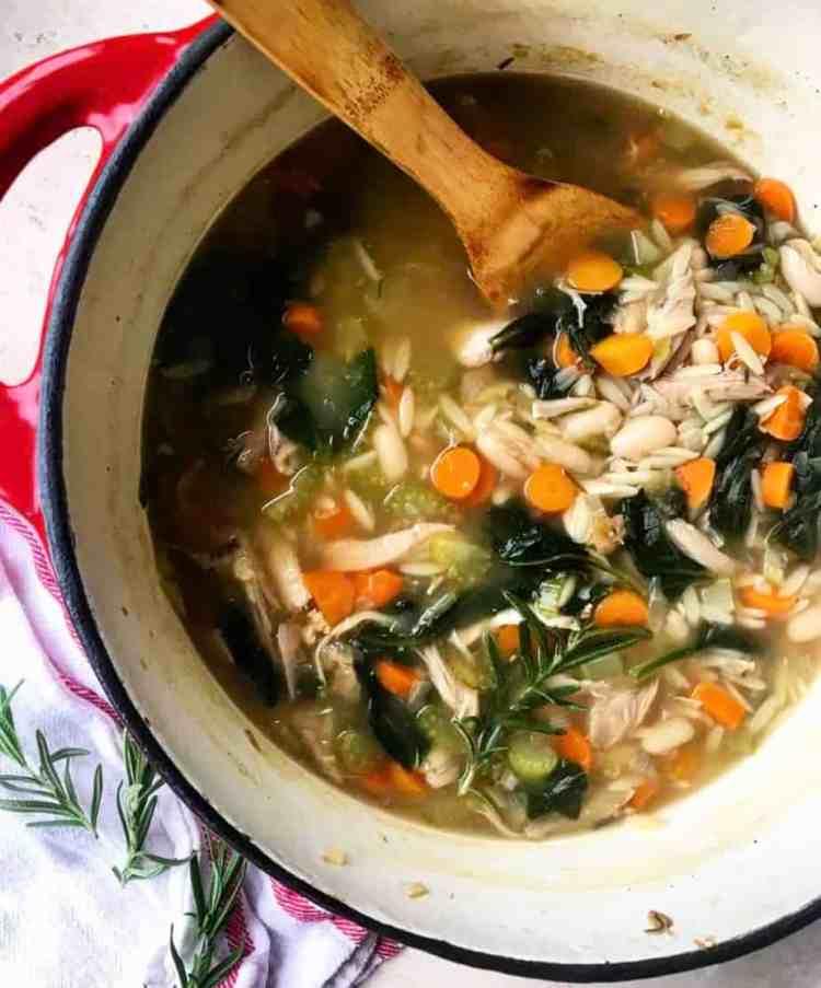 Lemon Orzo Chicken Soup