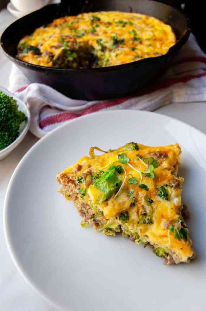 Sausage and Broccoli Fritatta