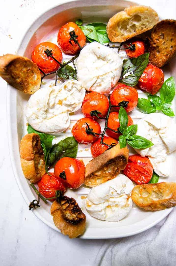 Roasted Tomatoes and Burrata