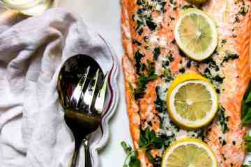 Steelhead Trout with Garlic Herb Butter