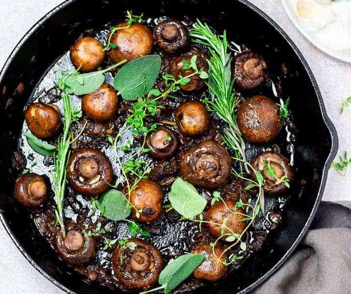 Easy Sautéed Whole Garlic Mushrooms