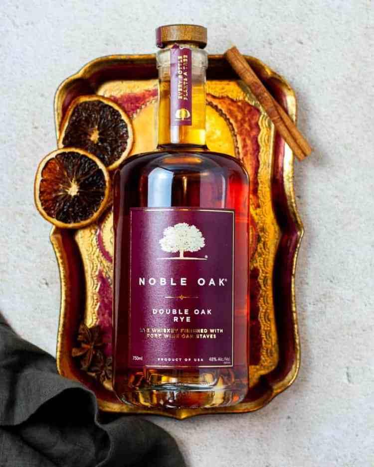 Bourbon on a tray