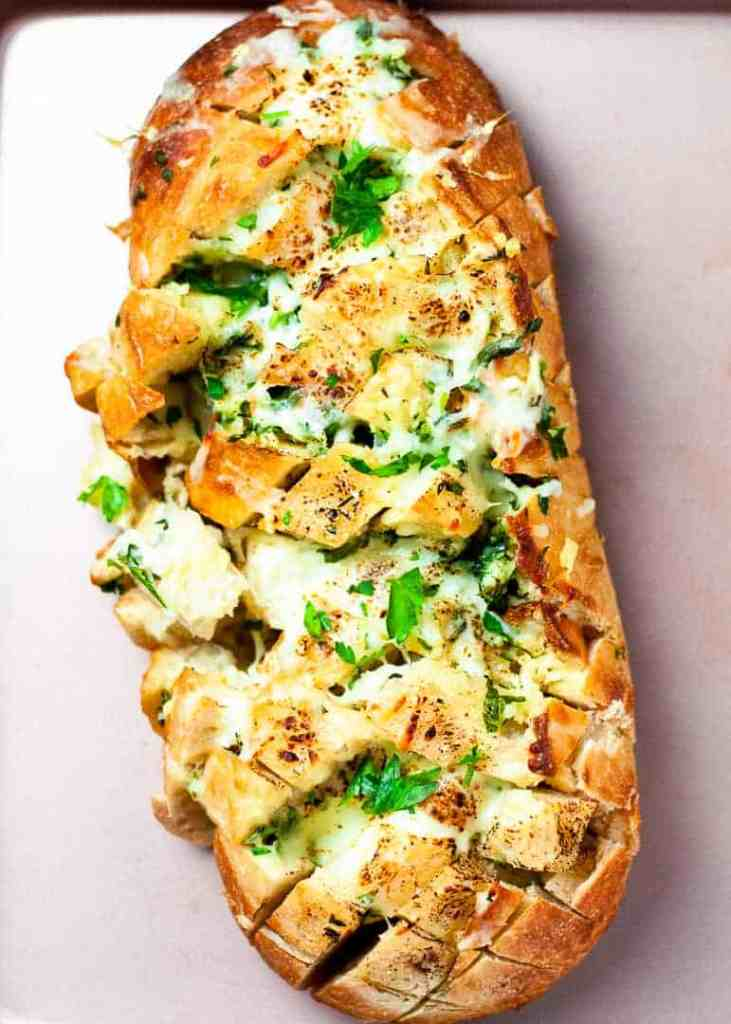 Cheesy Garlic Herb Butter Pull Apart Bread
