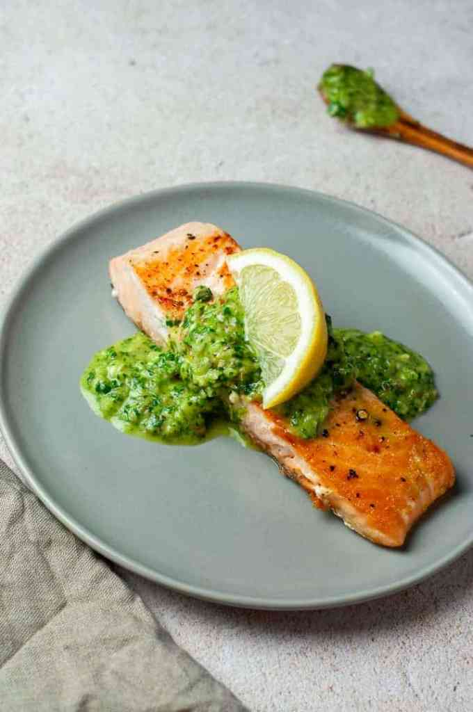 Pan Seared Salmon with Lemon
