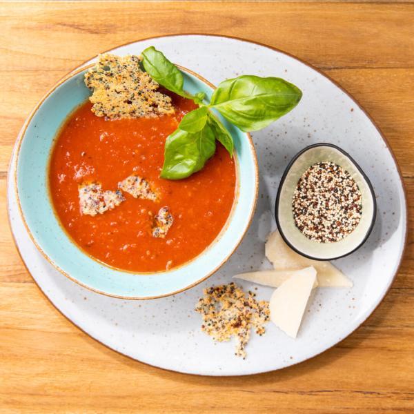 Quinova Tomatensuppe mit