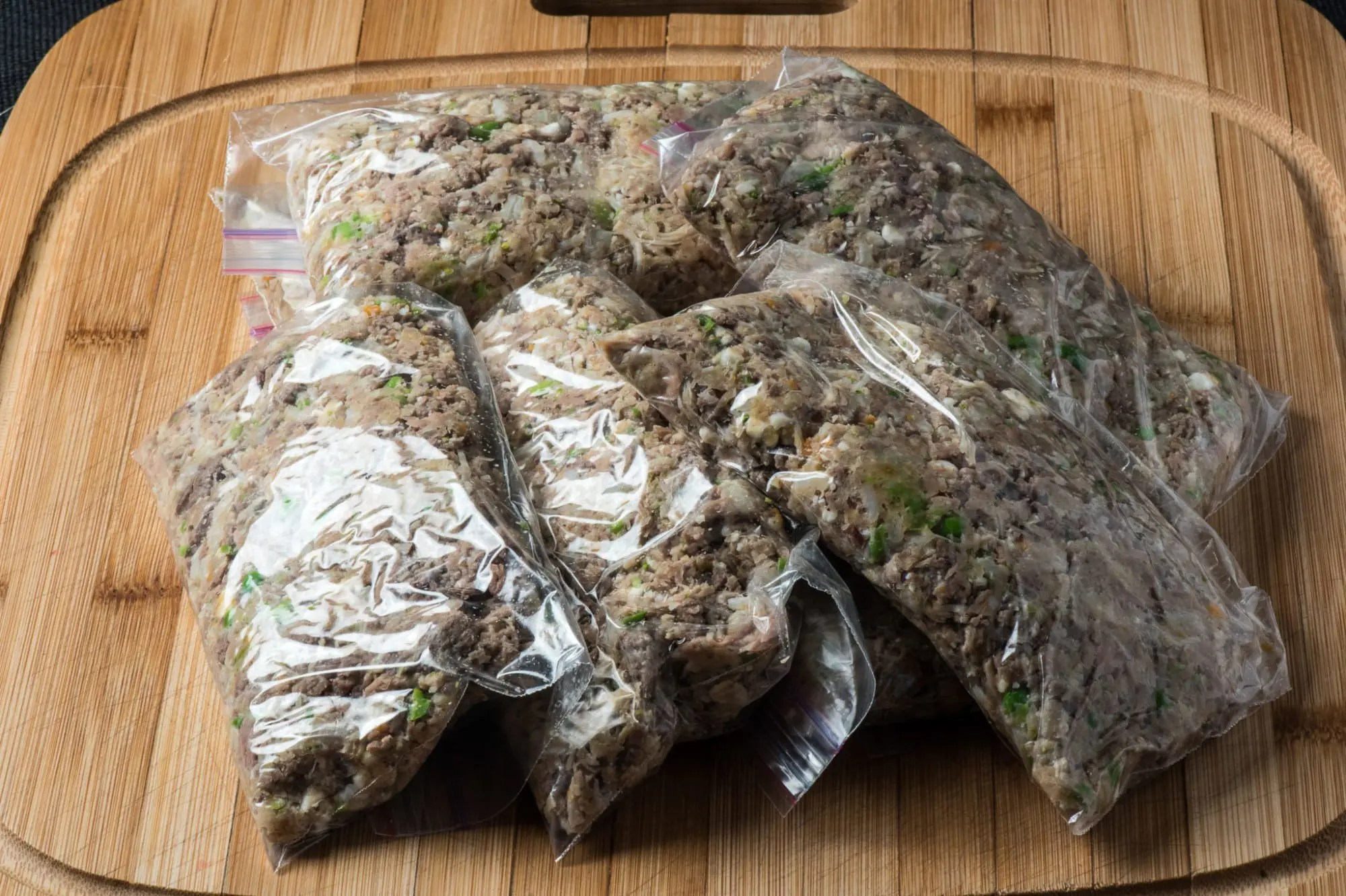 Healthy homemade dog food tasty low carb finished dog food ready for freezing forumfinder Choice Image