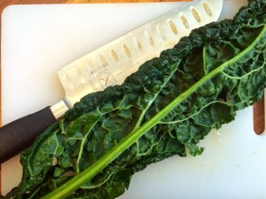 kale and knife