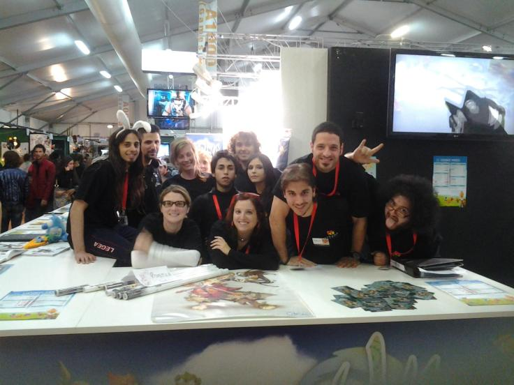 """Say """"cheese"""", it's team photo time! (Lucca Comics & Games, Italian Content and Community Manager, Ankama, 2011)"""
