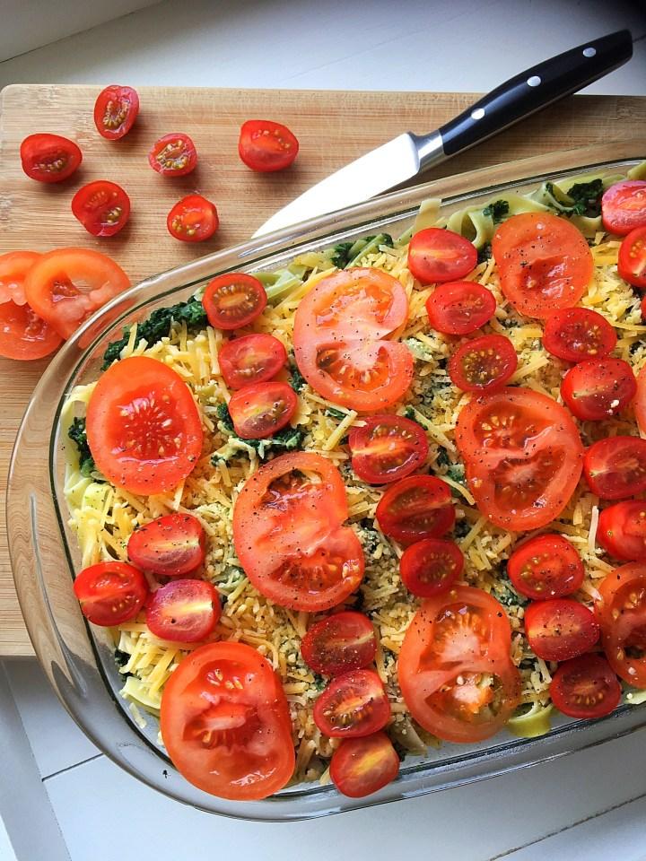 Tagliatelle met spinazie