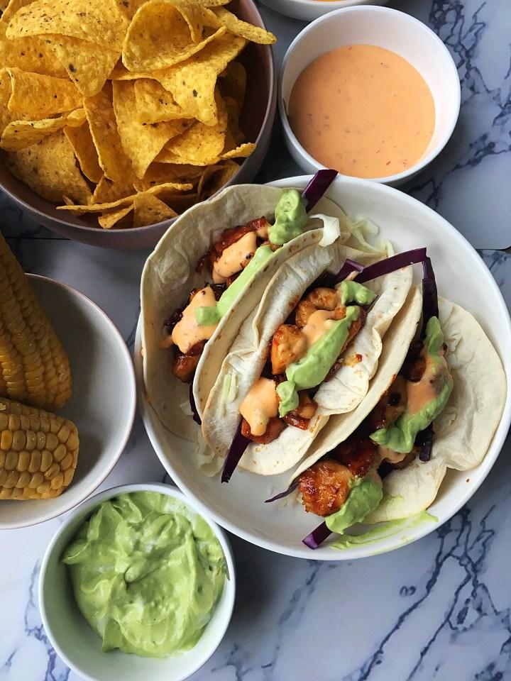 Soft Taco's met Sinaasappelkip