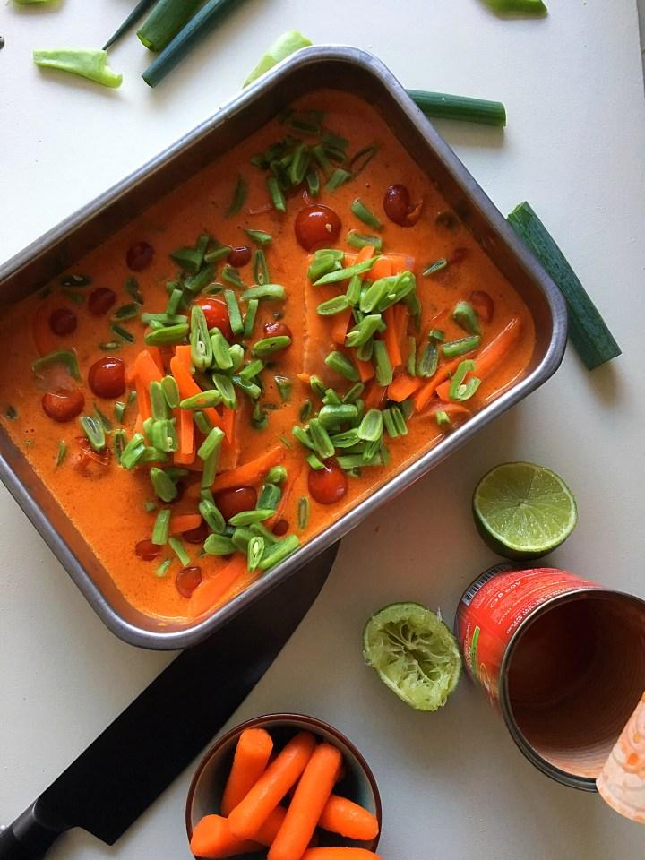 Zalm in curry