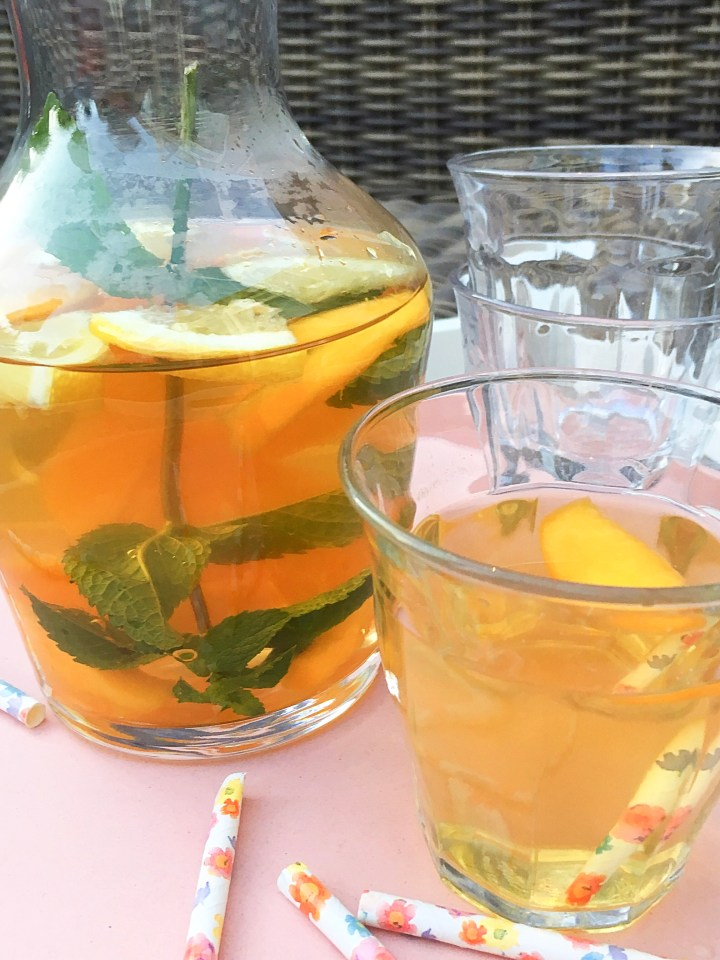 Homemade Peach IceTea