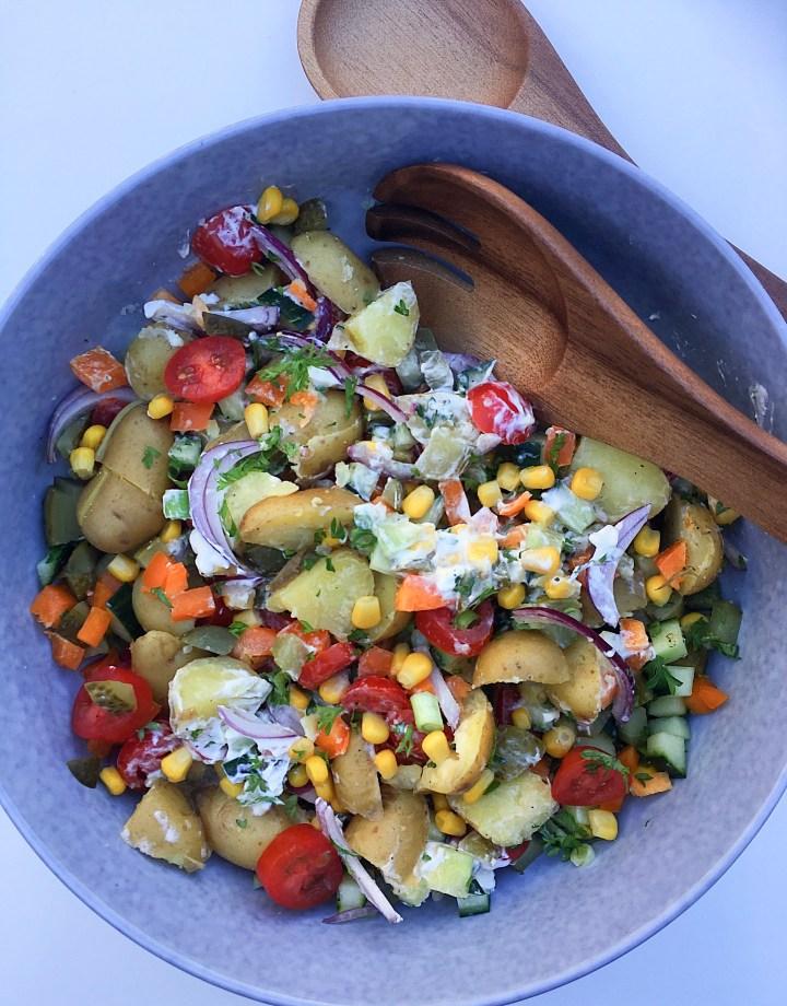 Regenboog aardappelsalade