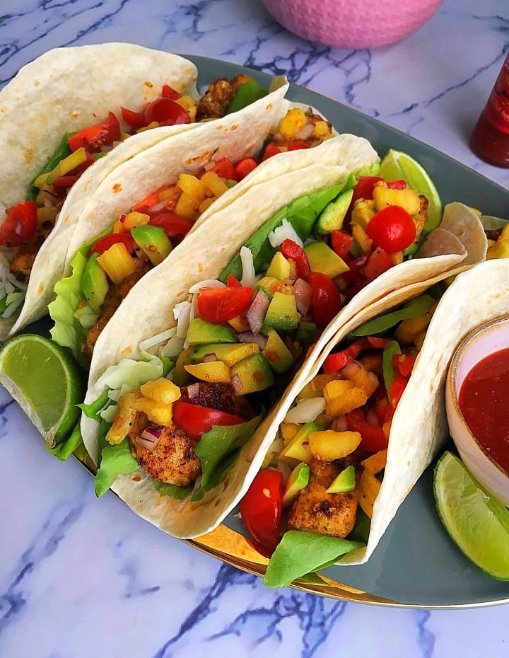 Soft Taco's met Vis en Ananassalsa