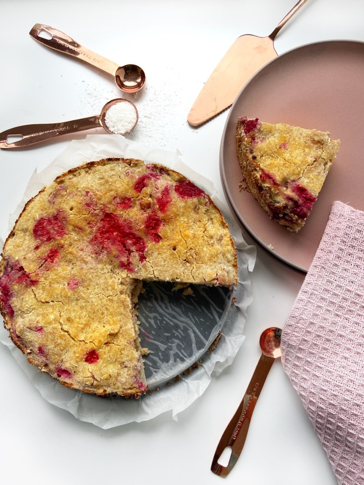 Gezonde Kokos Frambozen cake