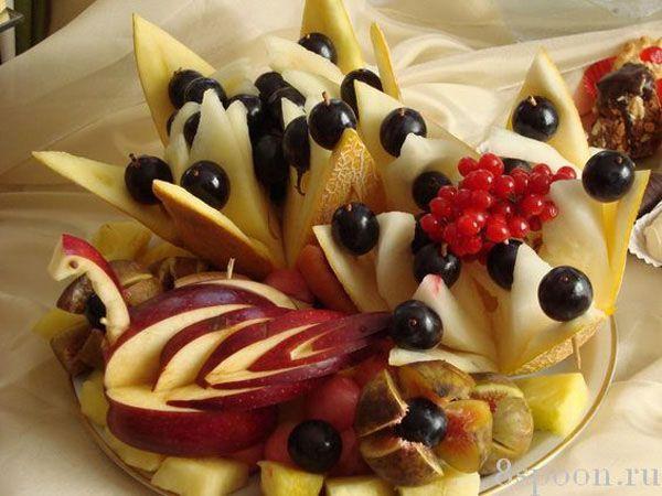 Оформление фруктовой нарезки - Вкусный дом - пошаговые ...