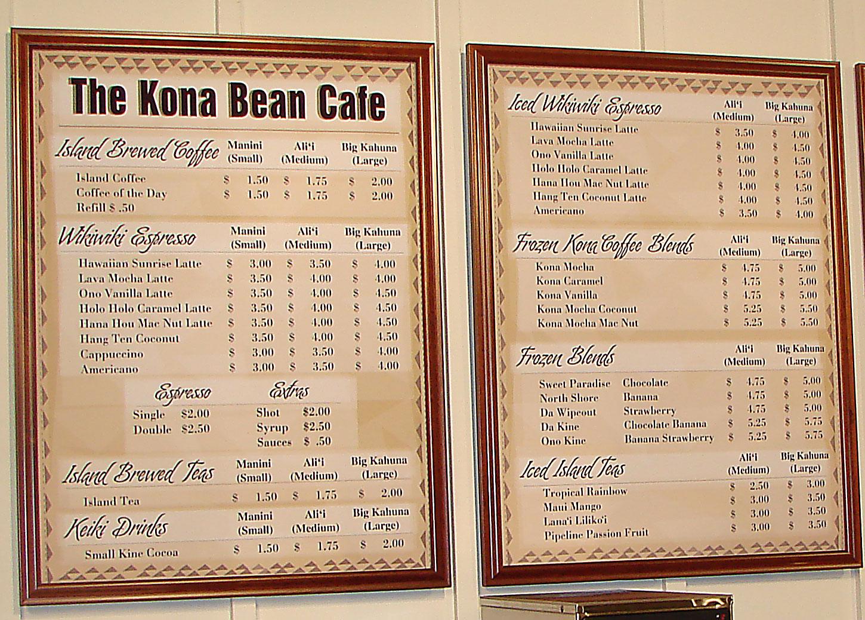 Plus  Cafe Hilo Menu