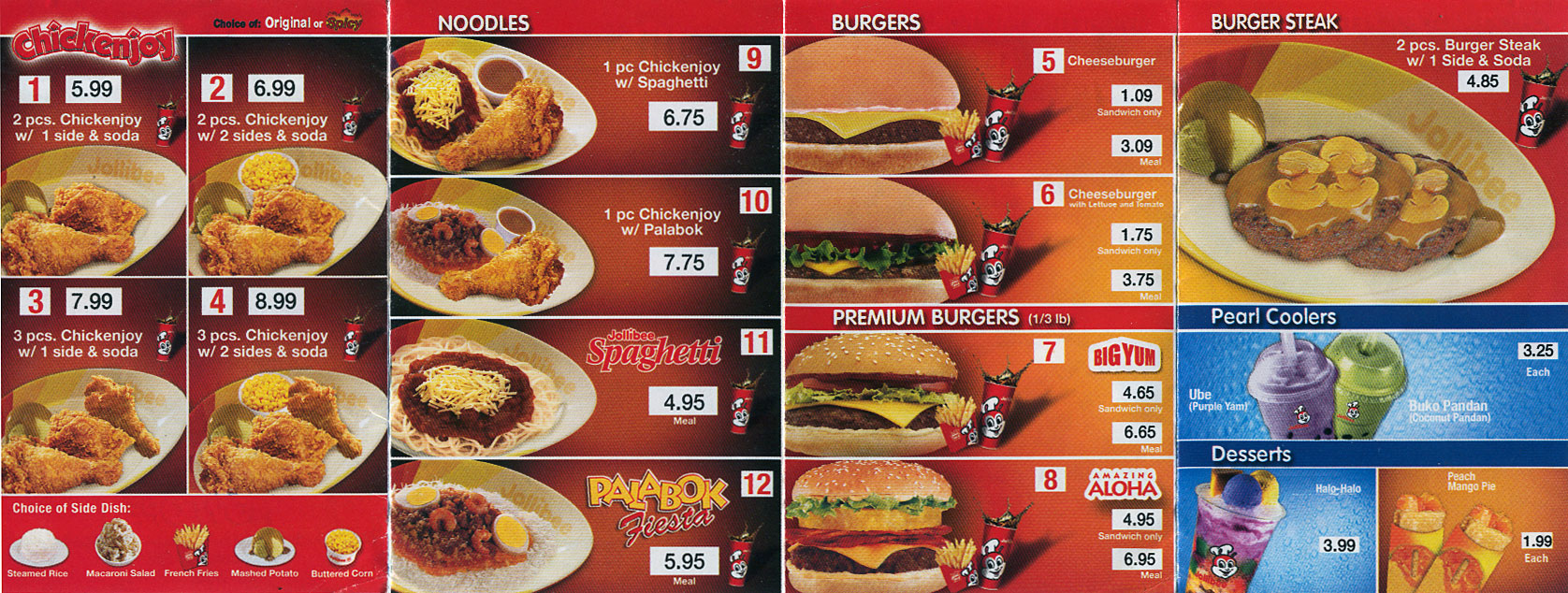 List Philippines Jollibee Menu Price