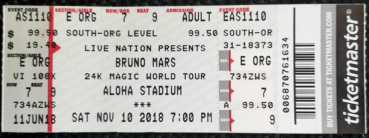 Bruno Mars 24k Magic @ Aloha Stadium concert review – Tasty Island