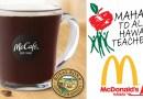McDonalds FREE Kona Coffee teacher's week promo
