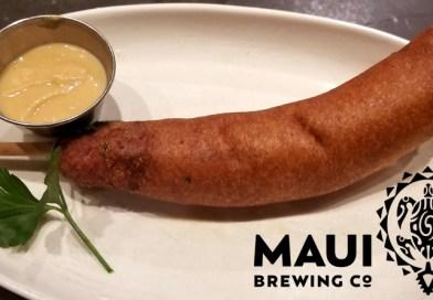 Maui Brewing Company's Portuguese Sausage Corn Dog