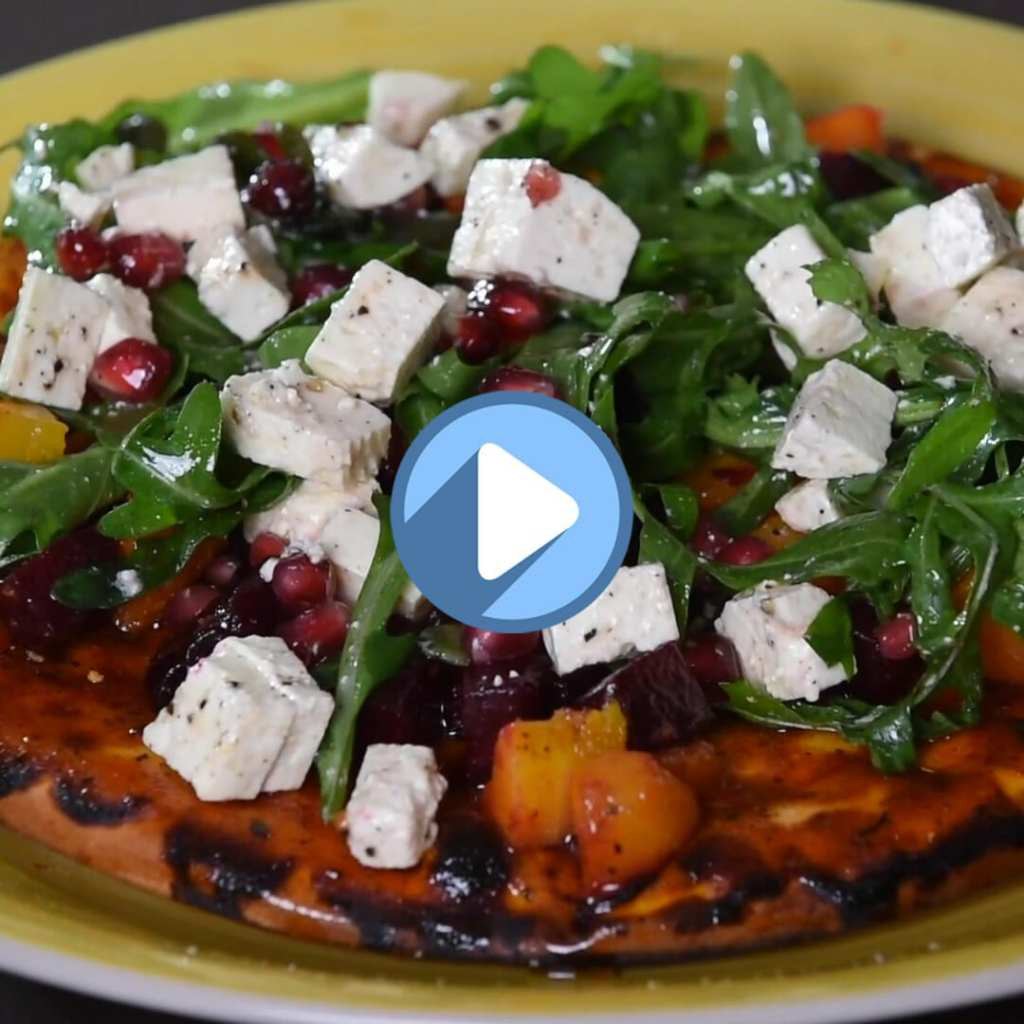 BUTTERNUT, BEETROOT AND FETA PIZZA