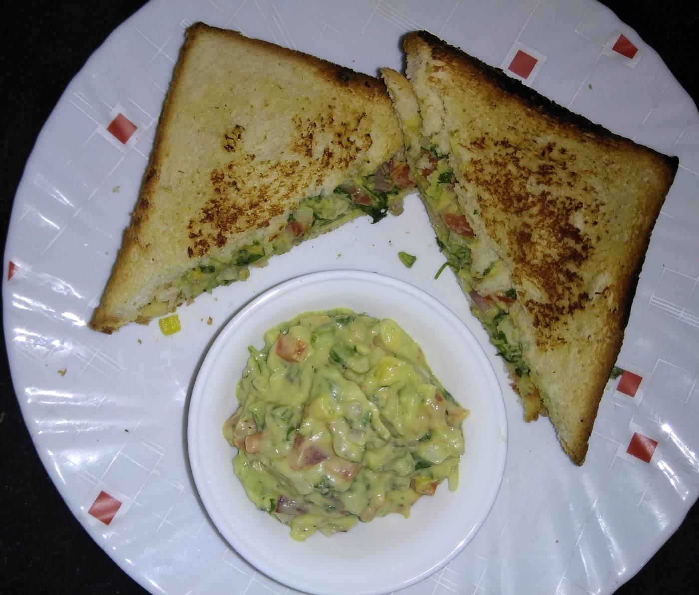 Avocado breakfast sandwich